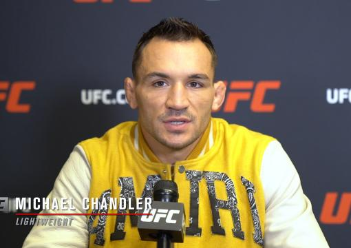 UFC lightweight title contender Michael Chandler speaks with UFC.com ahead of his title shot against Charles Oliveira at UFC 262 in Houston on May 15, 2021