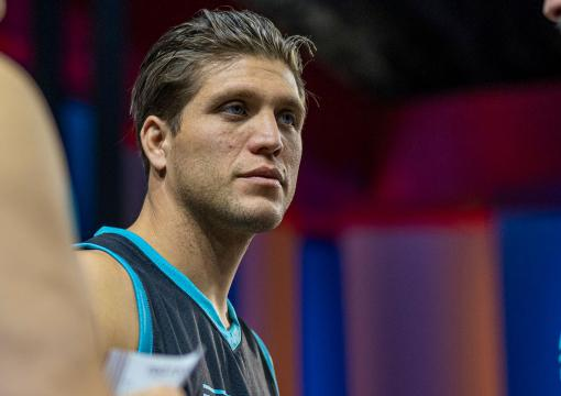 The Ultimate Fighter season 29 head coach Brian Ortega talks with his team during episode one (photo by Chris Unger/Zuffa LLC)