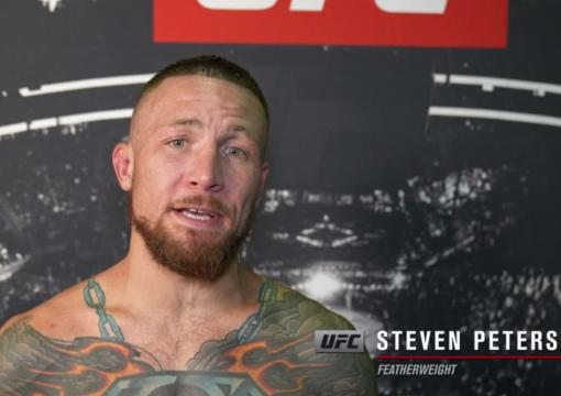 Steven Peterson reacts withUFC.comafter his unanimous decisionvictory over featherweight Chase Hooperat UFC 263: Adesanya vs Vettori 2 on June 12, 2021