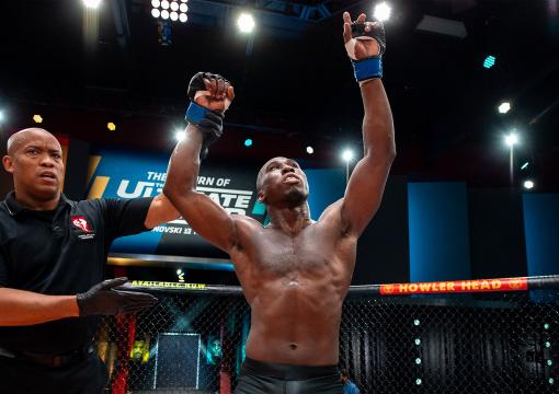 Middleweight Tresean Gore defeated Ryder Newman on episode three of The Return of The Ultimate Fighter Season 29. (Chris Unger/Zuffa LCC)