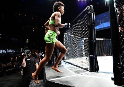 Black History: Angela Hill became the first African American female to compete in the UFC against fellow strawweight Emily Kagan