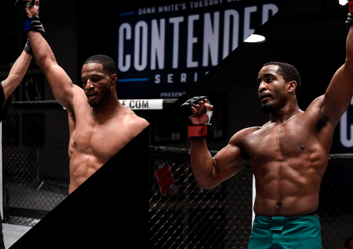 Black History: Geoff Neal (right) and Karl Roberson (left) are awarded contracts on Season 1, Episode 3 of DWCS