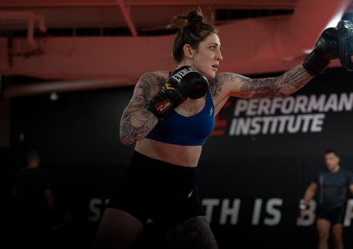 Megan Anderson Trains for UFC 259.