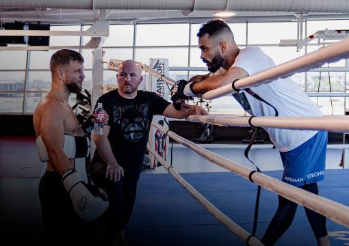 Rob Font and Calvin Kattar trains at the UFC PI on May 13, 2021. (Photo by Zac Pacleb)