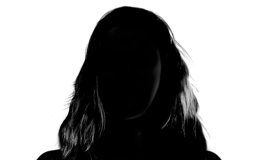 Women's Silhouette Headshot Profile Image