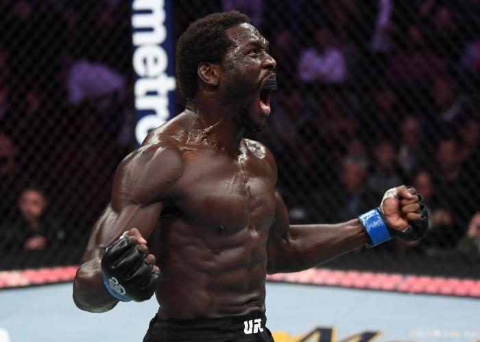 NEW YORK, NY - NOVEMBER 03:  Jared Cannonier celebrates after his TKO victory over David Branch in their middleweight bout during the UFC 230 event inside Madison Square Garden on November 3, 2018 in New York, New York. (Photo by Jeff Bottari/Zuffa LLC via Getty Images)