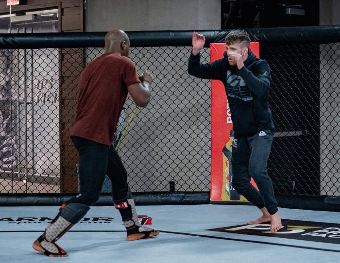 Cory Sandhagen trains at the UFC Performance Institute on February 3, 2021. (Photo by Zac Pacleb)