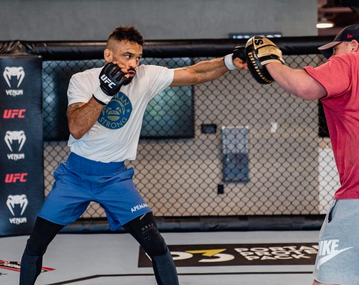 Rob Font trains at the UFC Performance Institute on May 13, 2021. (Photo by Zac Pacleb)