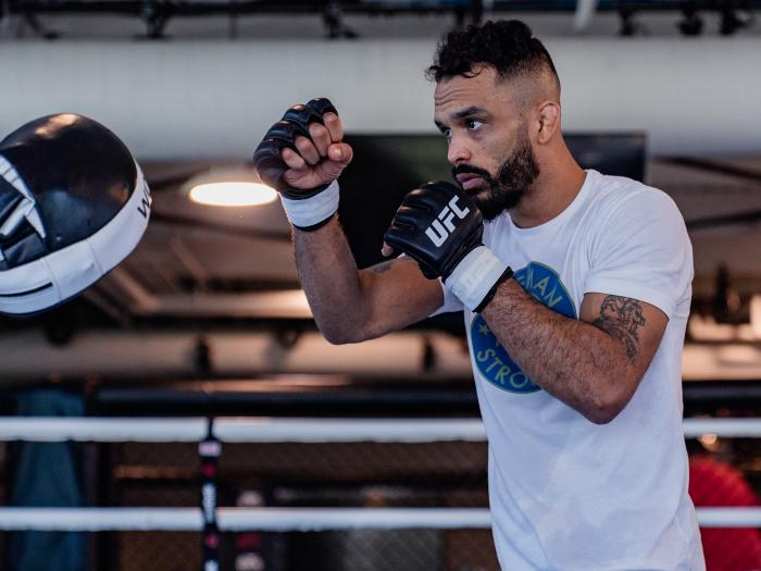 Rob Font train at the UFC Performance Institute on May 13, 2021. (Photo by Zac Pacleb)
