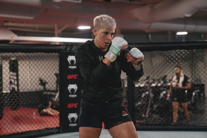 Macy Chiasson trains at the UFC Performance Institute on July 21, 2021. (Photo by Maddyn Johnstone-Thomas)