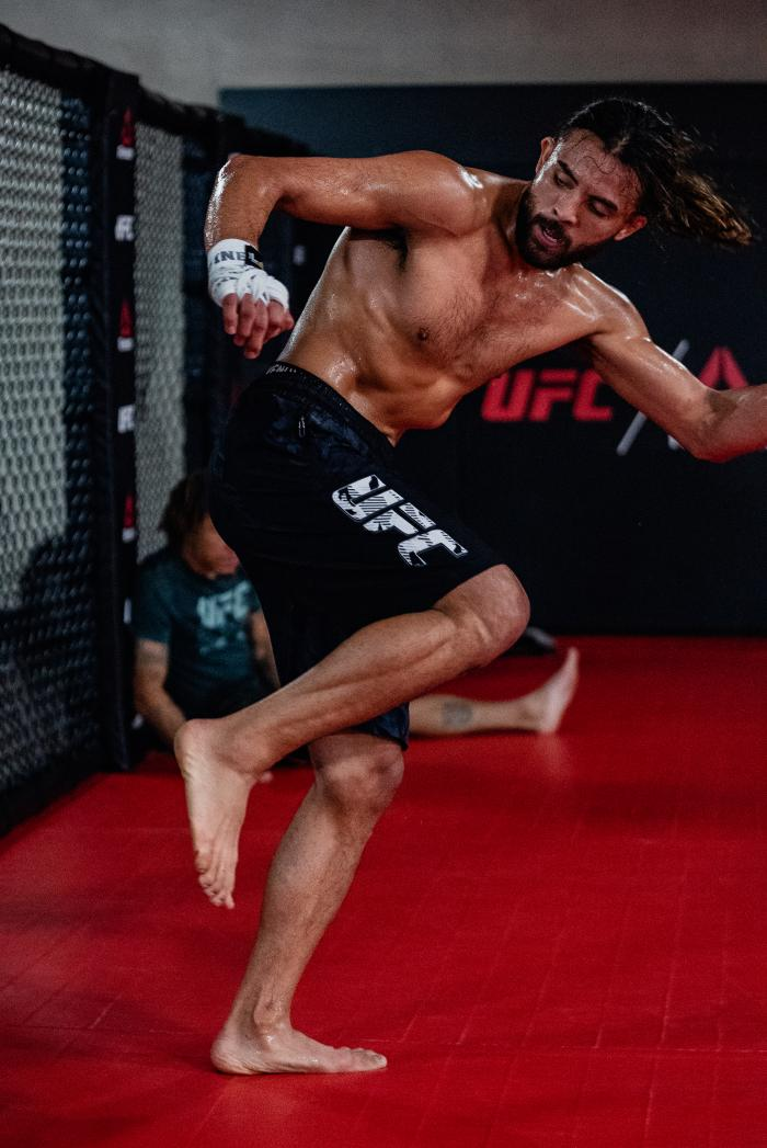 Kyler Phillips trains at the UFC Performance Institute on July 21, 2021. (Photo by Zac Pacleb)