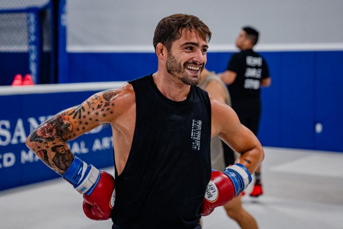 Randy Costa trains at Sanford MMA in Deerfield Beach, Florida on June 30, 2021. (Photo by Zac Pacleb)