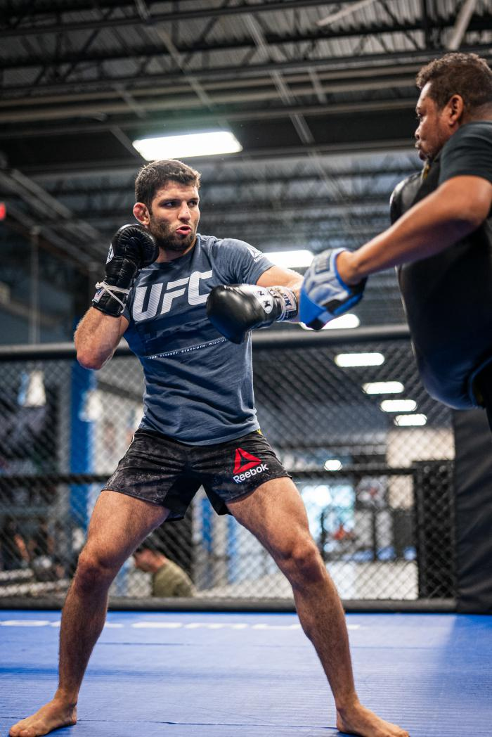 Thiago Moises trains at American Top Team in Coconut Creek, Florida, on June 28, 2021. (Photo by Harrison Green)