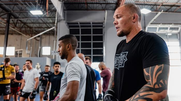 Anthony Smith trains at Factory X in Englewood, Colorado for his main event light heavyweight bout against Ryan Spann at UFC Fight Night: Smith vs Spann on August 25, 2021. (Photo by Zac Pacleb/Zuffa LLC)