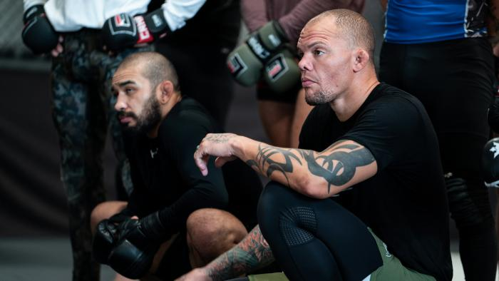Anthony Smith trains at Factory X in Englewood, Colorado for his main event light heavyweight bout against Ryan Spann at UFC Fight Night: Smith vs Spann on August 25, 2021. (Photo by McKenzie Pavacich/Zuffa LLC)