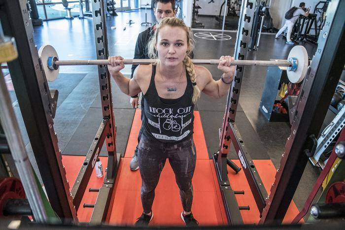 Andrea Lee training at the UFC Performance Institute March 2019