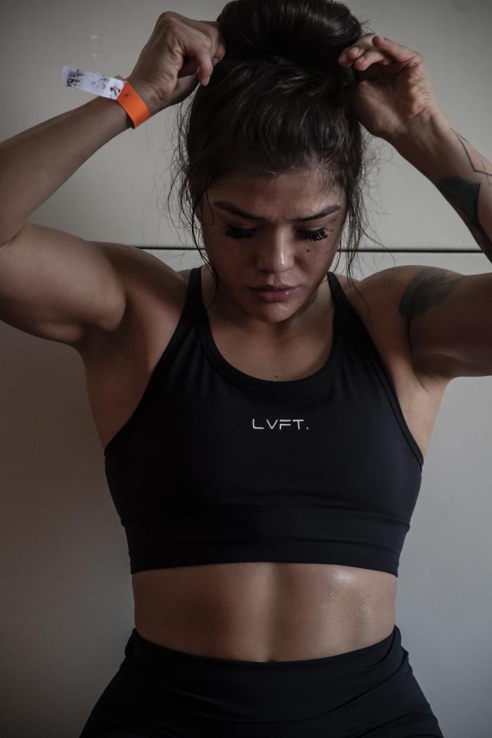 05 - Tracy Cortez training at her training room during UFC Fight Island 5 fight week.