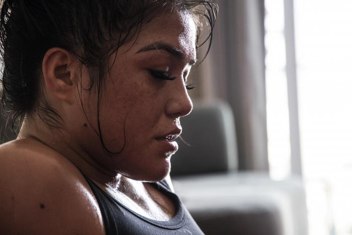 13 - Tracy Cortez training at her training room during UFC Fight Island 5 fight week.