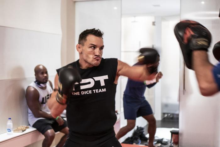 Michael Chandler training during UFC 254 fight week