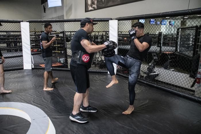Adrian Yanez training for UFC Vegas 32