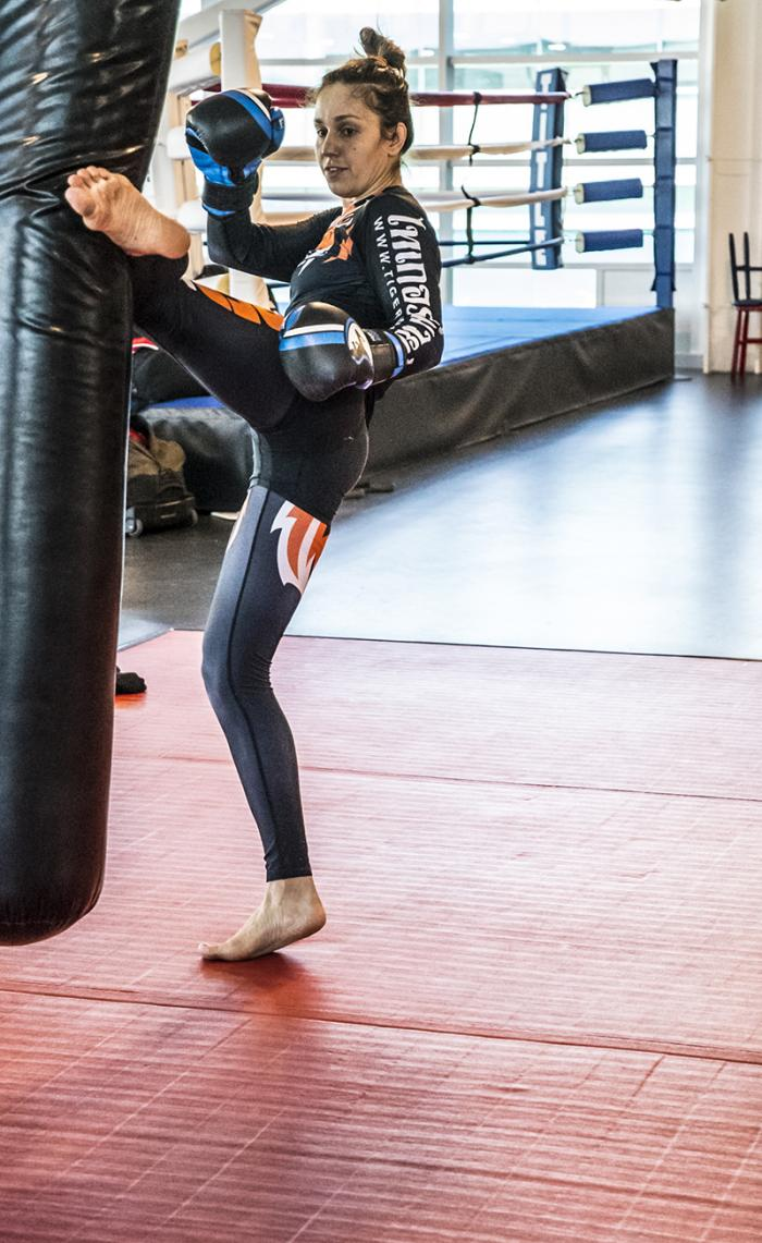 Las Vegas 5/27/18 - Antonina Shevchenko at the UFC Performance Institute in las Vegas preparing for Dana White's Tuesday Night Contender Series. (Photo credit Juan Cardenas)