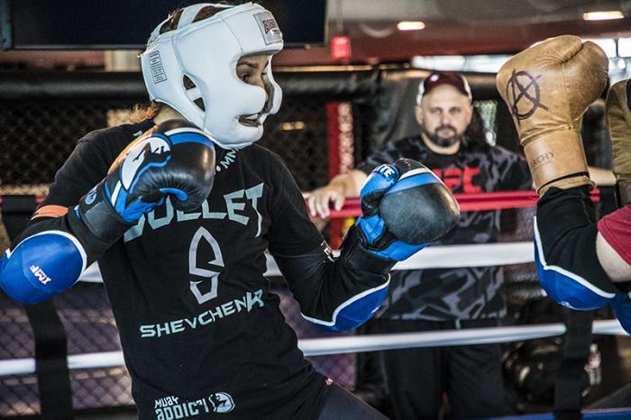 Las Vegas 5/27/18 - Antonina Shevchenko at the UFC Performance Institute in las Vegas preparing for Dana White's Tuesday Night Contender Series. (Photo credit: Juan Cardenas)
