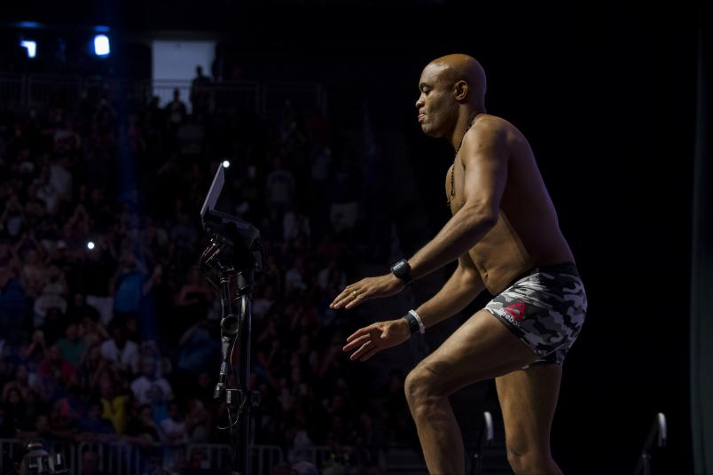Anderson Silva stands on the scale during the UFC 200 weigh-ins at T-Mobile Arena on July 8, 2016 in Las Vegas, Nevada. (Photo by Cooper Neill/Zuffa LLC via Getty Images).jpg