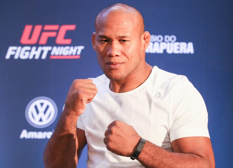 Ronaldo Souza Jacare poses during the Ultimate Media Day at Renaissance Hotel Sao Paulo on November 14, 2019 in Sao Paulo, Brazil. (Photo by Alexandre Schneider/Zuffa LLC via Getty Images)
