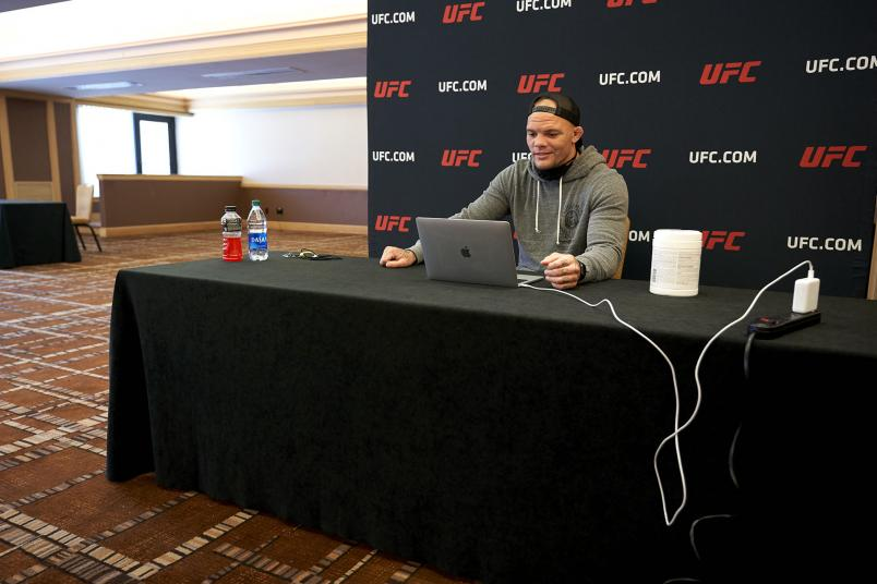 Anthony Smith visits with the media during the UFC Fight Night: Smith vs. Teixeira Virtual Media Day at the Hyatt Regency Jacksonville Riverfront on May 11, 2020 in Jacksonville, Florida. (Photo by Cooper Neill/Zuffa LLC)