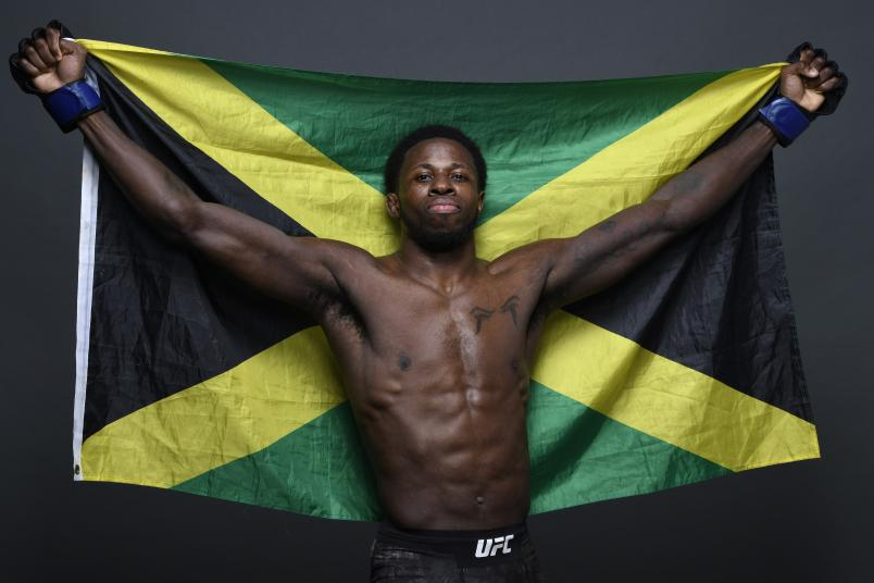 Randy Brown poses for a portrait backstage after his victory during the UFC Fight Night event at Ibirapuera Gymnasium on November 16, 2019 in Sao Paulo, Brazil. (Photo by Mike Roach/Zuffa LLC via Getty Images)