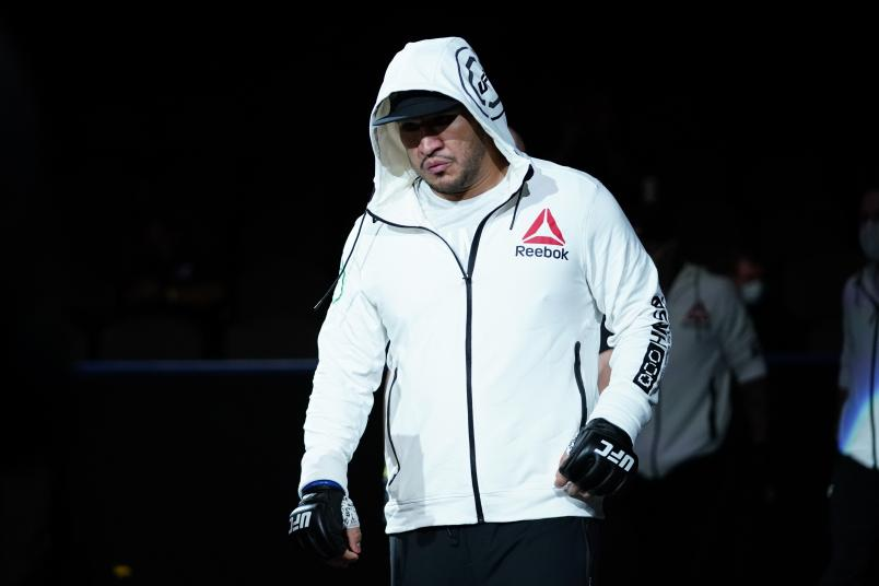 Ike Villanueva walks to the Octagon prior to his heavyweight bout against Chase Sherman during the UFC Fight Night Event at VyStar Veterans Memorial Arena on May 13, 2020 in Jacksonville, Florida. (Photo by Cooper Neill/Zuffa LLC via Getty Images)