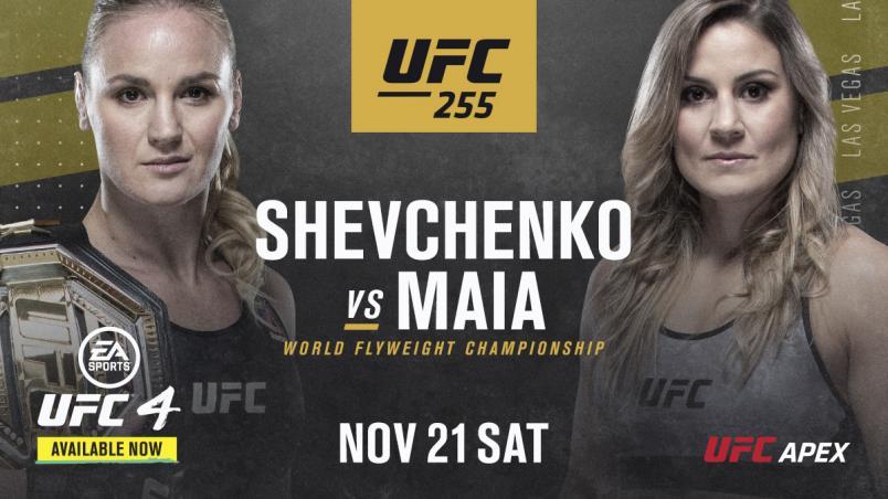 UFC ANNOUNCES UFC 255 ON NOVEMBER 21ST