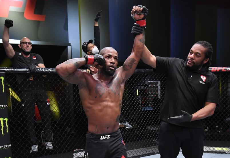 Bobby Green celebrates after his victory over Alan Patrick of Brazil in a lightweight fight during the UFC Fight Night event at UFC APEX on September 12, 2020 in Las Vegas, Nevada. (Photo by Jeff Bottari/Zuffa LLC)