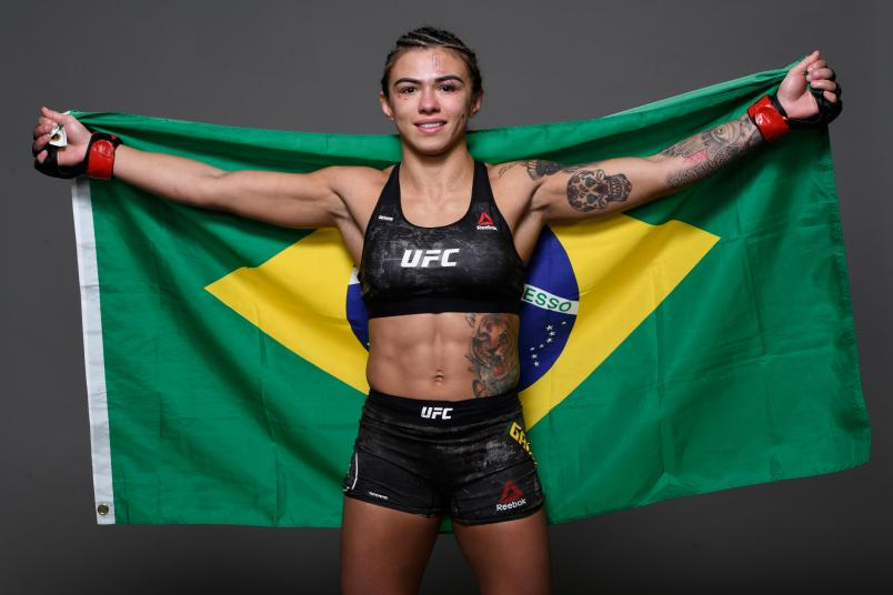 Claudia Gadelha of Brazil poses for a portrait during the UFC 239 event at T-Mobile Arena on July 6, 2019 in Las Vegas, Nevada. (Photo by Mike Roach/Zuffa LLC).jpg
