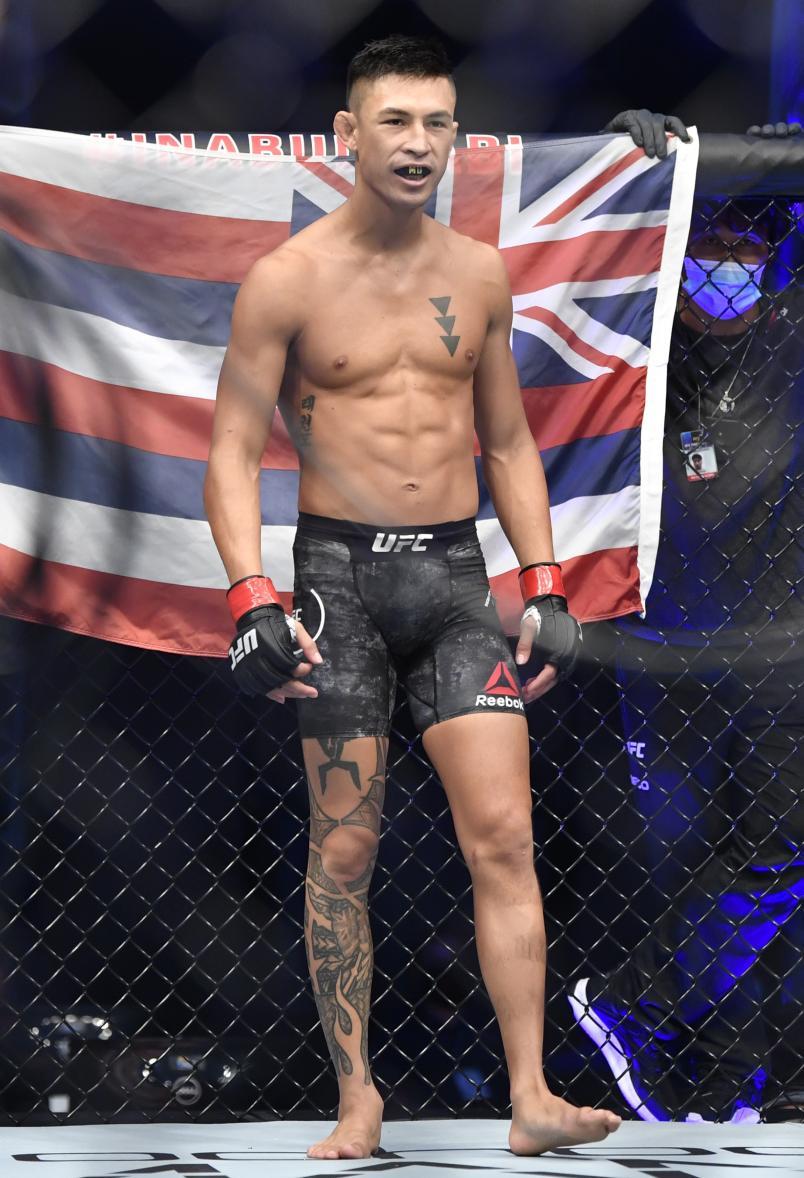 Мартин Дэй готовится к бою с Дэйви Грантом в легчайшем весе во время мероприятия UFC 251 на Flash Forum на UFC Fight Island 12 июля 2020 года на острове Яс, Абу-Даби, Объединенные Арабские Эмираты. (Фото Джеффа Боттари / Zuffa LLC)