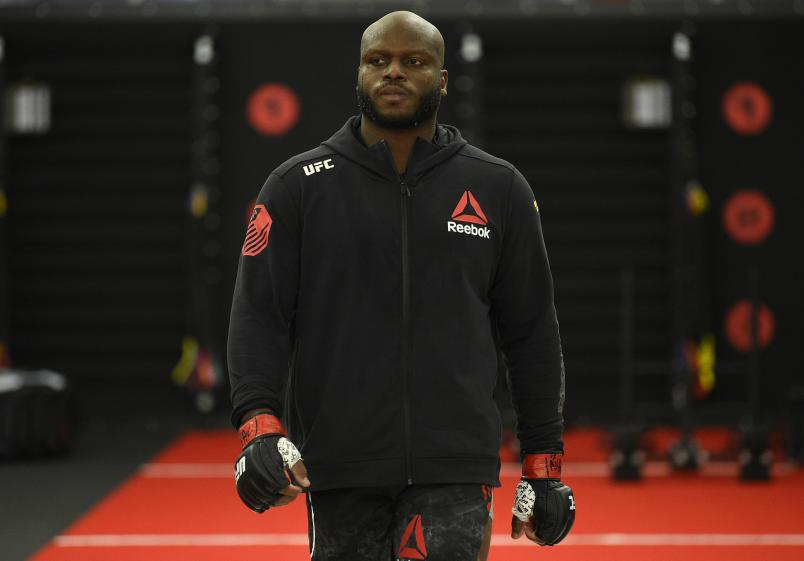 Derrick Lewis prepares to fight Aleksei Oleinik in their heavyweight fight during the UFC Fight Night event at UFC APEX on August 08, 2020 in Las Vegas, Nevada. (Photo by Chris Unger/Zuffa LLC)
