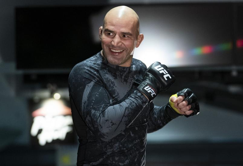 Glover Teixeira during the UFC Fight Night Open Workouts at Rogers Arena on September 11, 2019 in Vancouver, Canada. (Photo by Rich Lam/Zuffa LLC)
