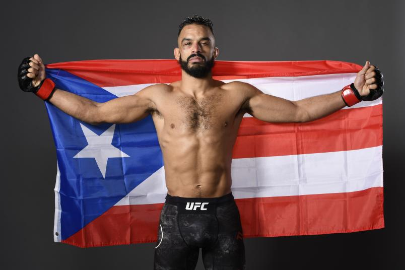 Rob Font poses for a portrait backstage during the UFC Fight Night event at Capital One Arena on December 07, 2019 in Washington, DC. (Photo by Mike Roach/Zuffa LLC via Getty Images)