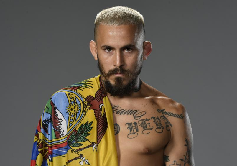 Marlon Vera of Ecuador poses for a portrait after his victory during the UFC 252 event at UFC APEX on August 15, 2020 in Las Vegas, Nevada. (Photo by Mike Roach/Zuffa LLC)