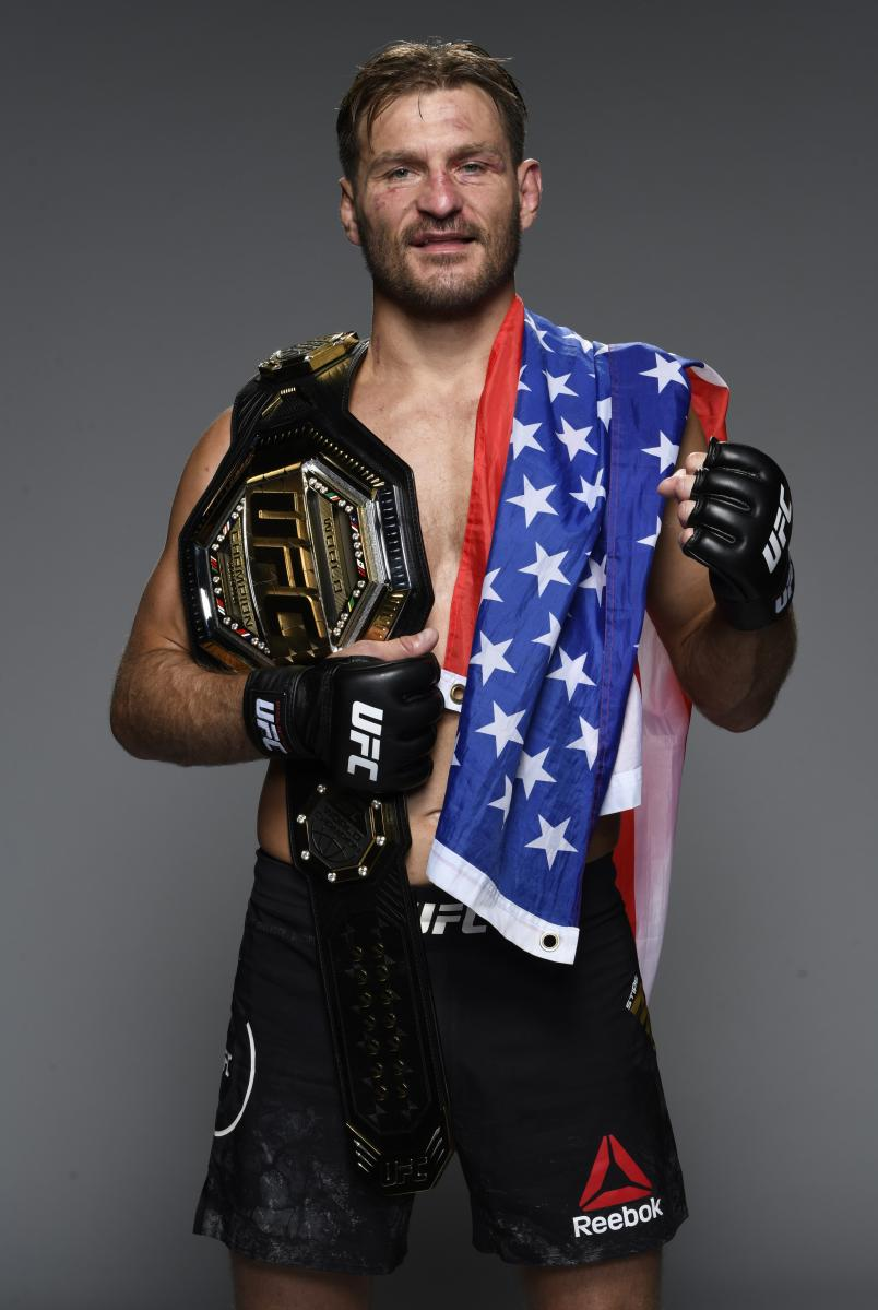 Stipe Miocic poses for a portrait after his victory during the UFC 252 event at UFC APEX on August 15, 2020 in Las Vegas, Nevada. (Photo by Mike Roach/Zuffa LLC)