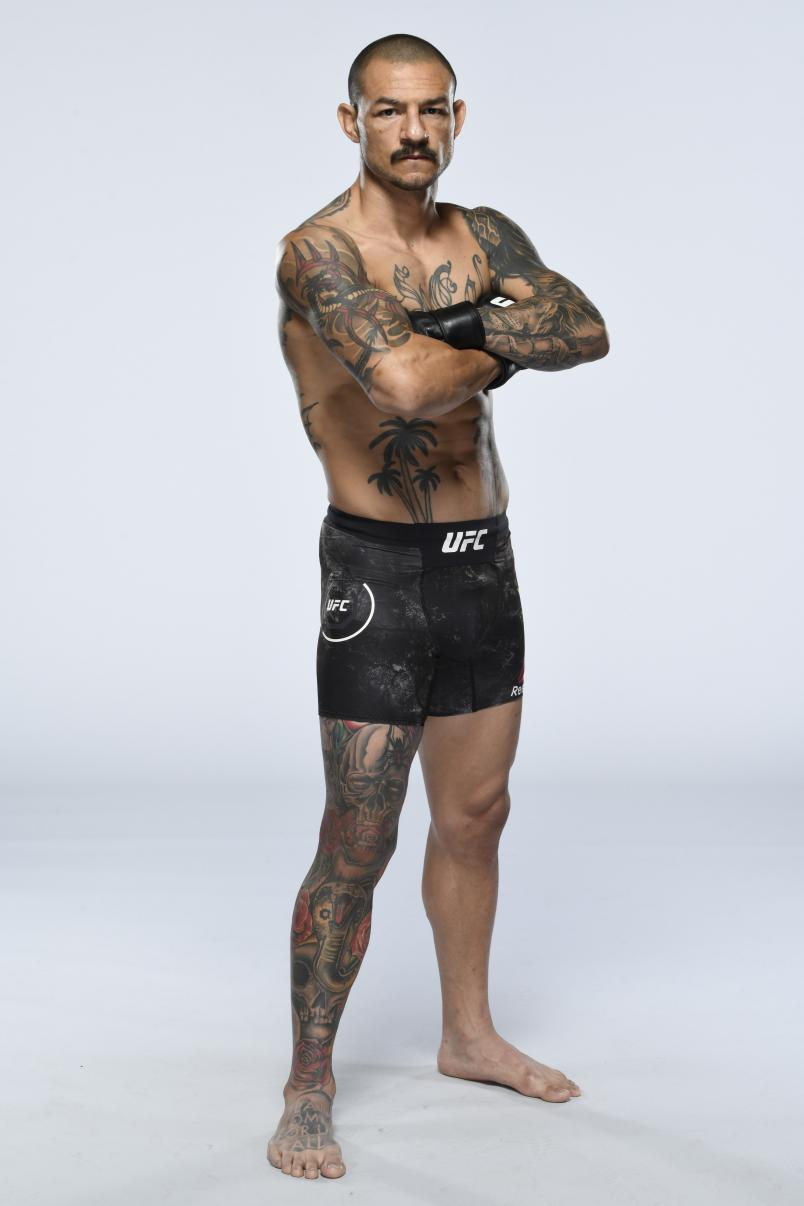 Cub Swanson poses for a portrait during a UFC photo session on December 9, 2020 in Las Vegas, Nevada. (Photo by Mike Roach/Zuffa LLC via Getty Images)