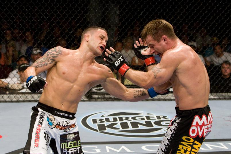 Frank Edgar def. Sean Sherk - Unanimous Decision during UFC 98 at MGM Grand Arena on May 23, 2009 in Las Vegas, Nevada. (Photo by Josh Hedges/Zuffa LLC)