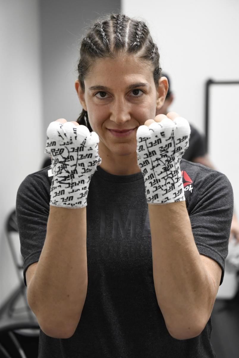 Roxanne Modafferi has her hands wrapped prior to her fight during the UFC Fight Night event at UFC APEX on September 12, 2020 in Las Vegas, Nevada. (Photo by Mike Roach/Zuffa LLC)