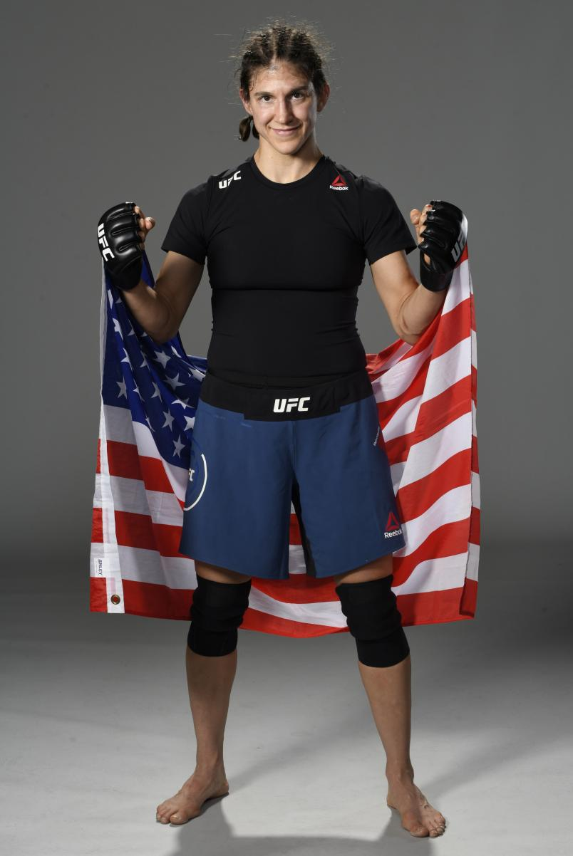 Roxanne Modafferi poses for a portrait after her victory during the UFC Fight Night event at UFC APEX on September 12, 2020 in Las Vegas, Nevada. (Photo by Mike Roach/Zuffa LLC)