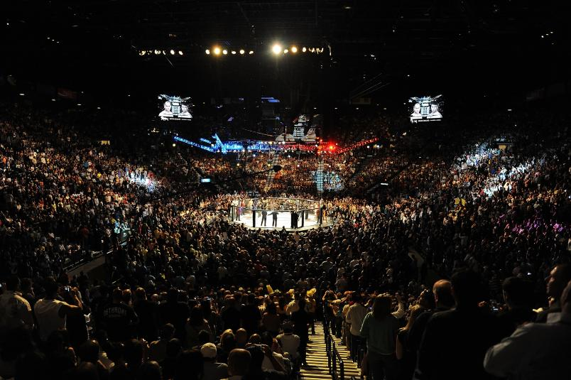 MGM Grand Garden Arena during UFC 146 at the MGM Grand Garden Arena on May 26, 2012 in Las Vegas, Nevada. (Photo by Kari Hubert/Zuffa LLC)