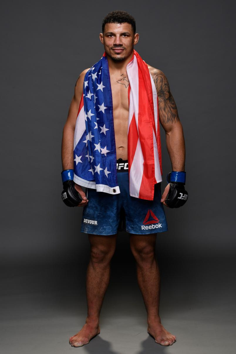 Drakkar Klose poses for a portrait backstage during the UFC 241 event at the Honda Center on August 17, 2019 in Anaheim, California. (Photo by Mike Roach/Zuffa LLC)