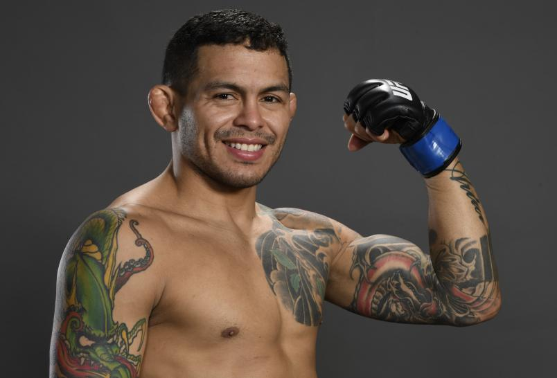 Diego Ferreira of Brazil poses for a portrait backstage during the UFC 246 event at T-Mobile Arena on January 18, 2020 in Las Vegas, Nevada. (Photo by Mike Roach/Zuffa LLC)