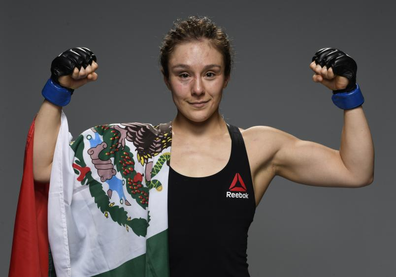 Alexa Grasso of Mexico poses for a portrait after her victory during the UFC Fight Night event at UFC APEX on August 29, 2020 in Las Vegas, Nevada. (Photo by Mike Roach/Zuffa LLC)