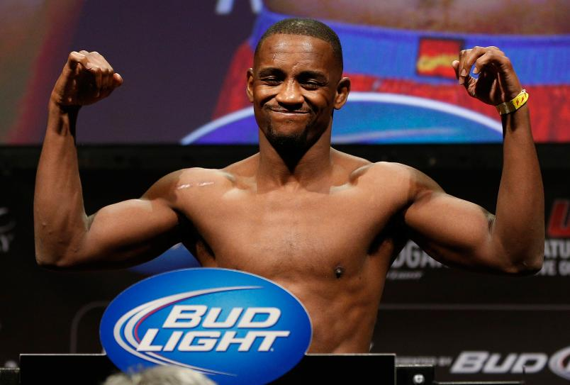 Yves Edwards weighs in during the UFC 156 weigh-in on February 1, 2013 at Mandalay Bay Events Center in Las Vegas, Nevada. (Photo by Josh Hedges/Zuffa LLC)
