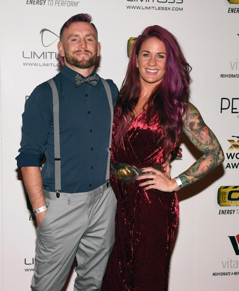 Tim Elliott (L) and Gina Mazany attend the 11th annual Fighters Only World MMA Awards at Palms Casino Resort on July 3, 2019 in Las Vegas, Nevada. (Photo by Ethan Miller/Getty Images)